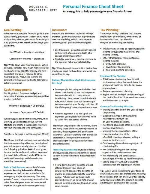 Financial+Planning+Cheat+Sheet