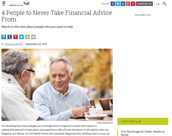 4 People to Never Take Financial Advice From